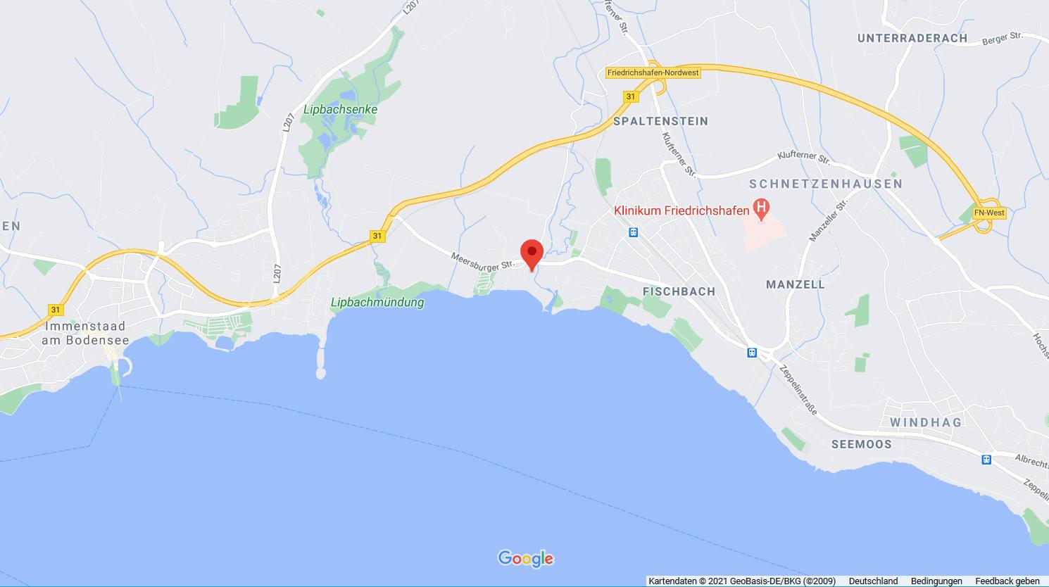 Umgebung bei Google Maps anzeigen